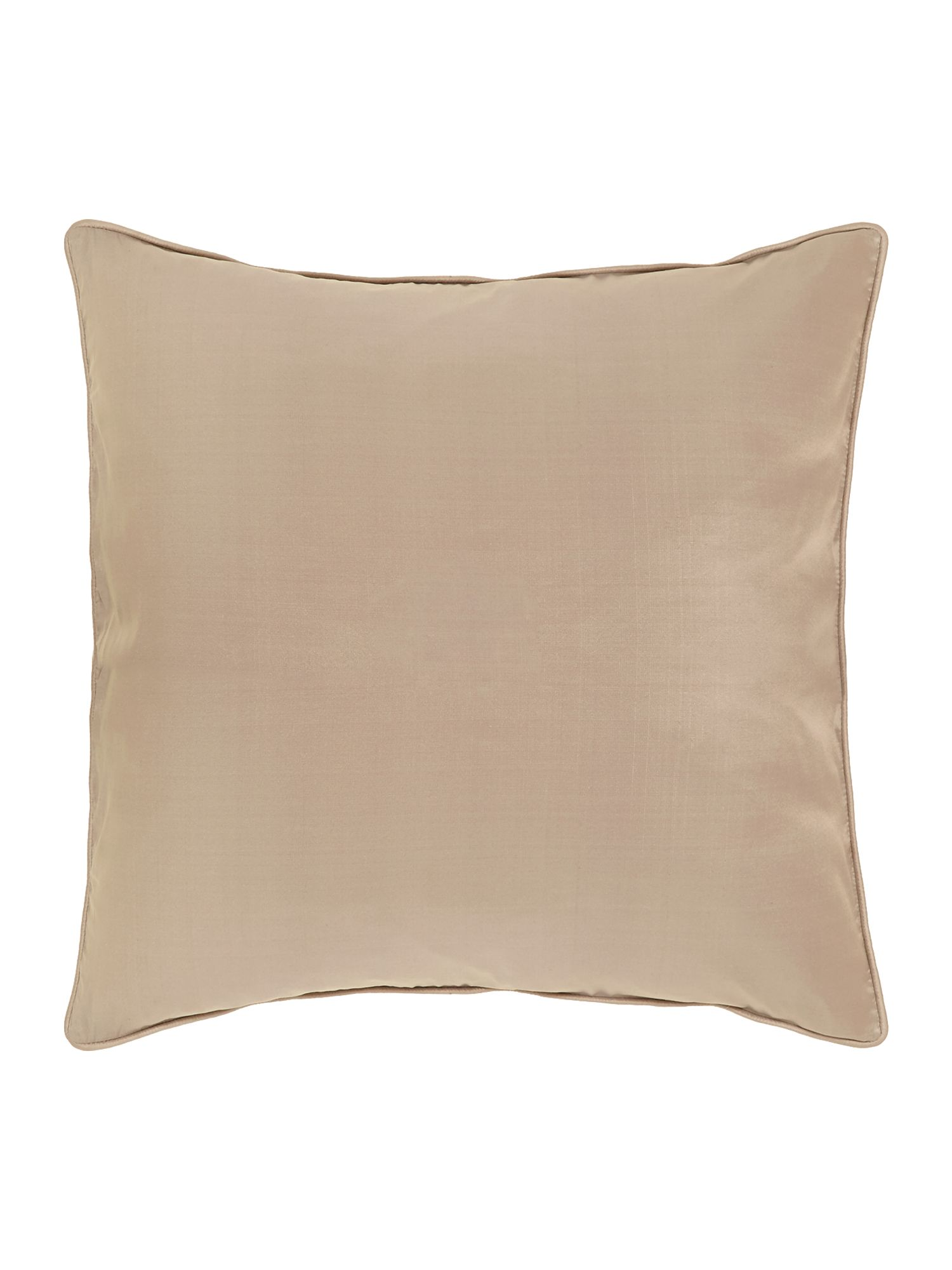 Oversized silk cushion, Latte