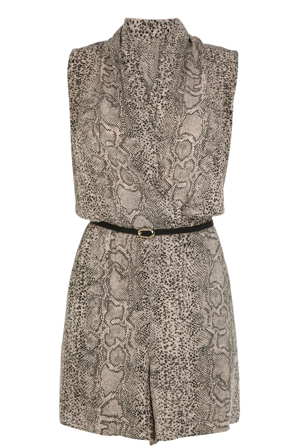 Snake cowl playsuit