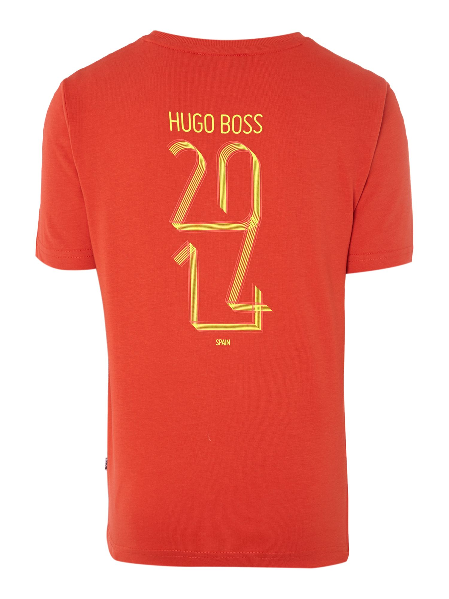Kids Spain football colours t-shirt