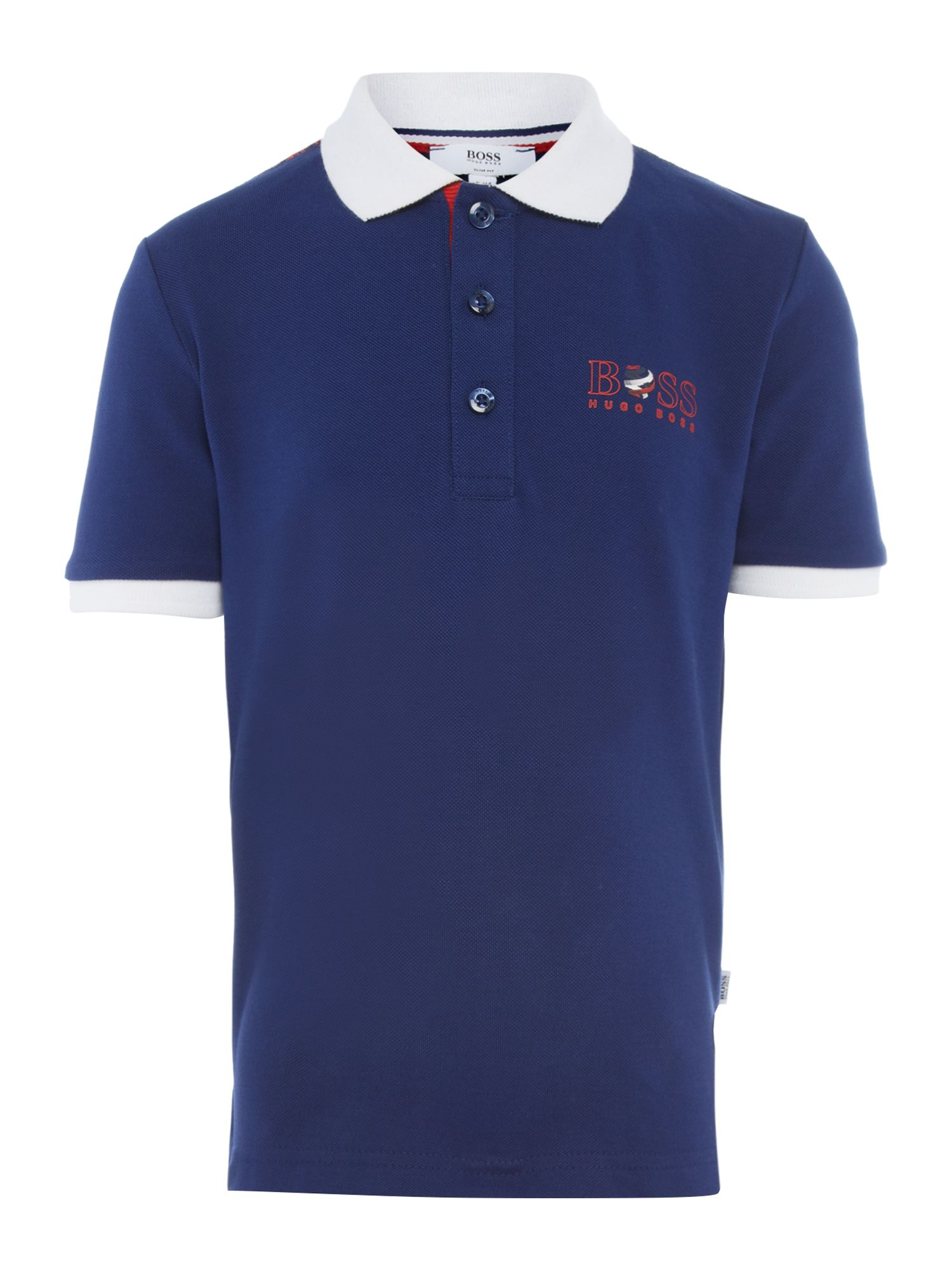 Kids France football colours polo shirt
