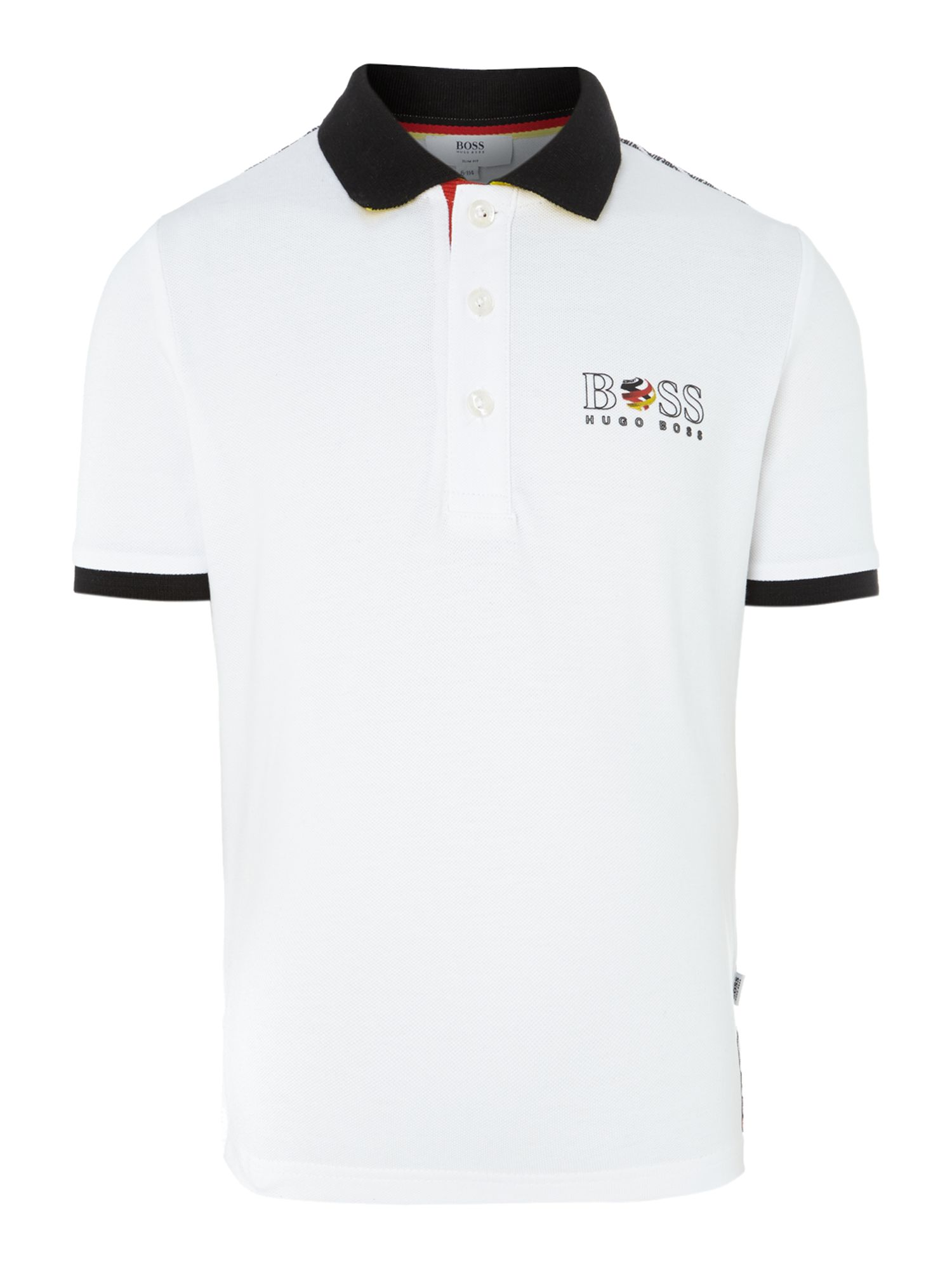 Kids Germany football colours polo shirt