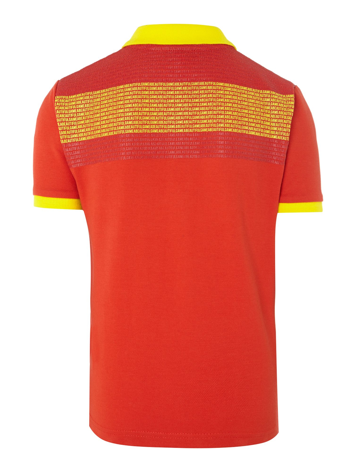 Kids Spain football colours polo shirt