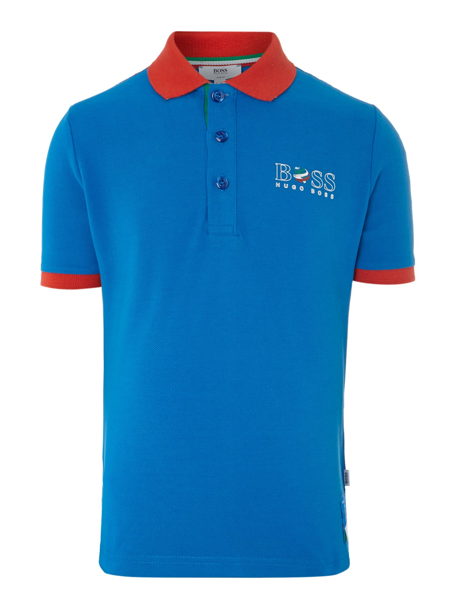 Kids Italy football colours polo shirt