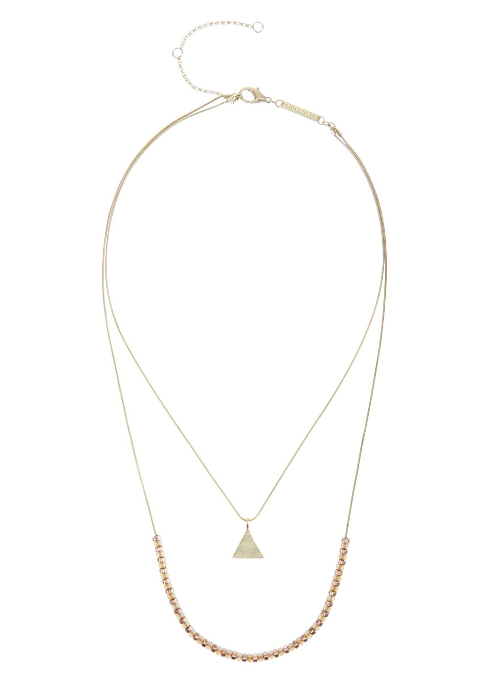 Gold & rose gold double layer necklace