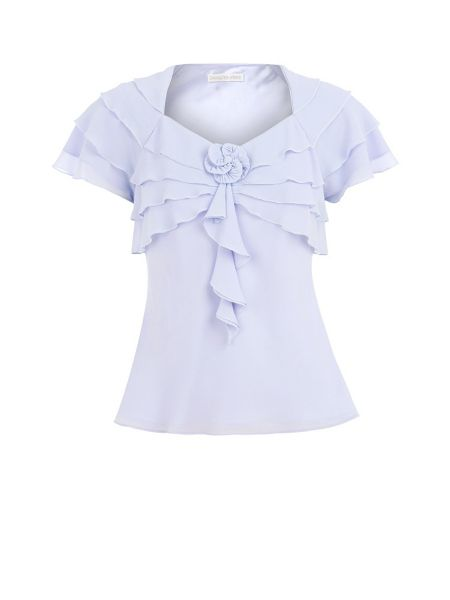 Jacques Vert Lilac frill blouse