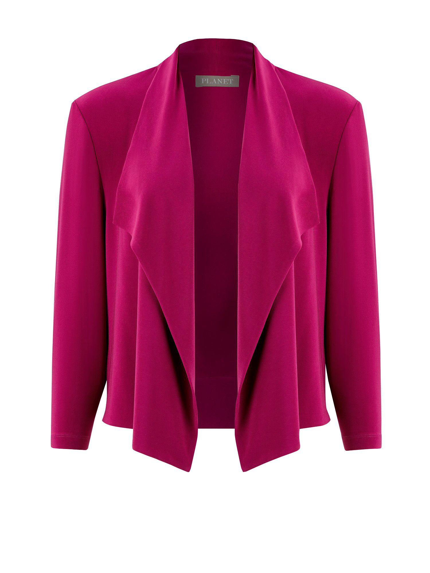 Cerise pink waterfall jacket