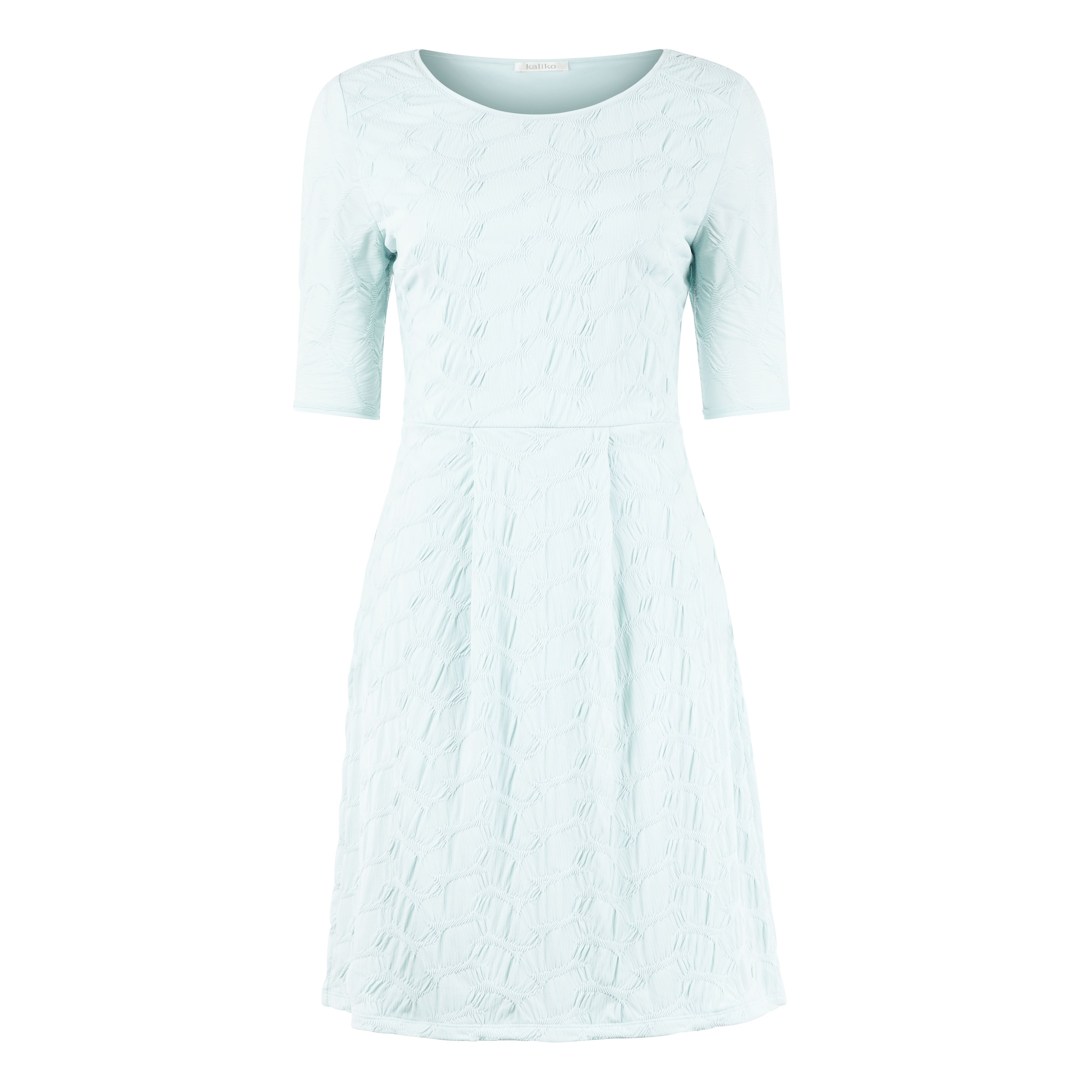 Duck egg textured tuck dress