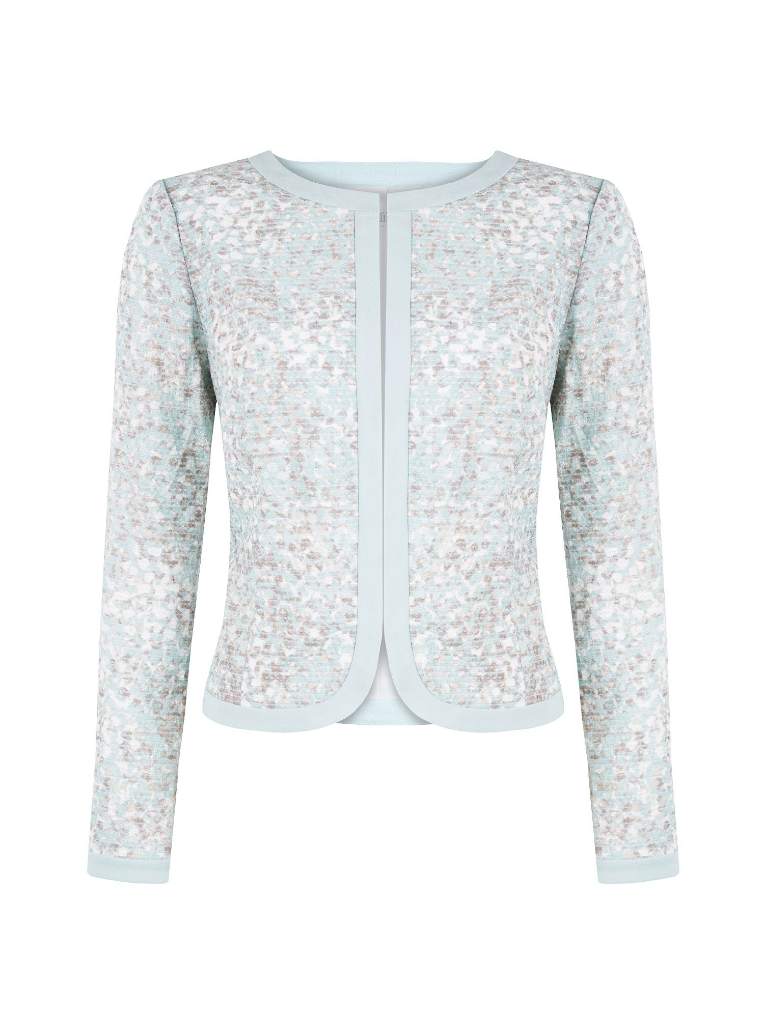 Duck egg mosaic printed jacket