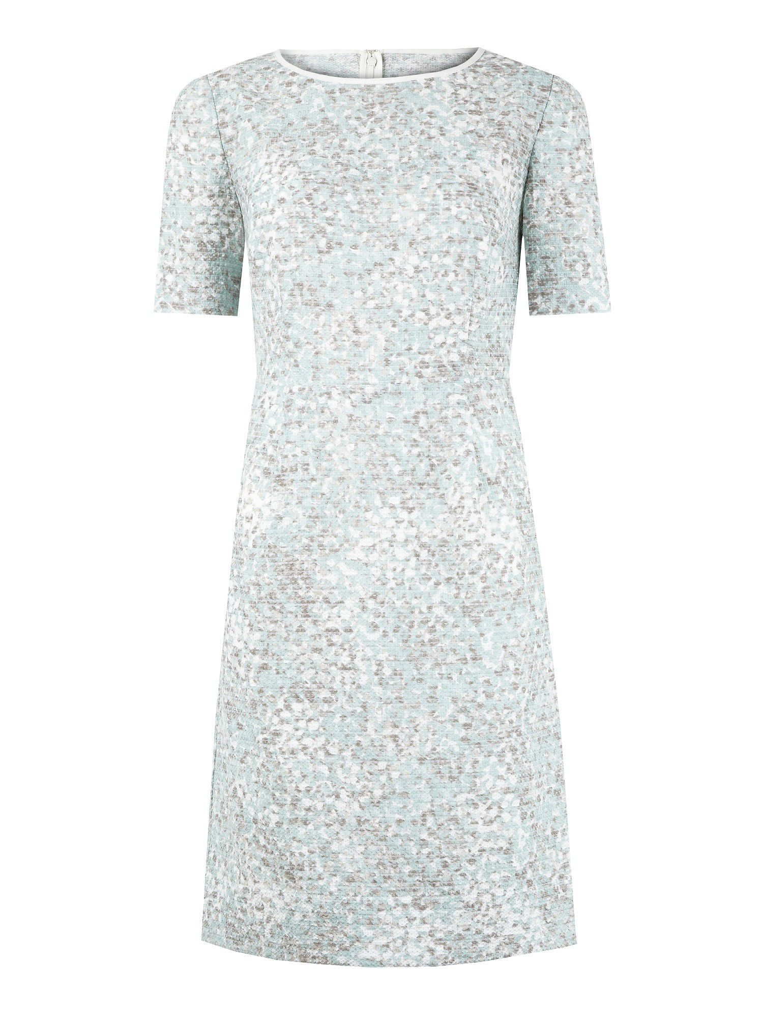Duck egg mosaic printed dress