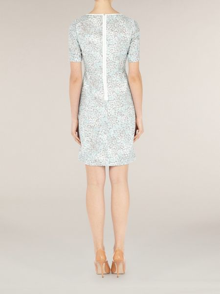 Kaliko Duck egg mosaic printed dress