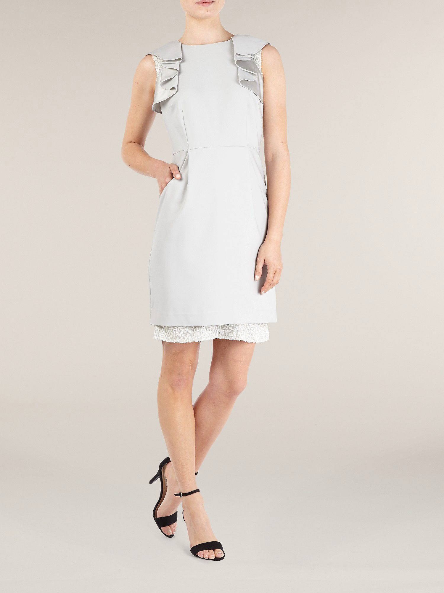 Double layer textured dress