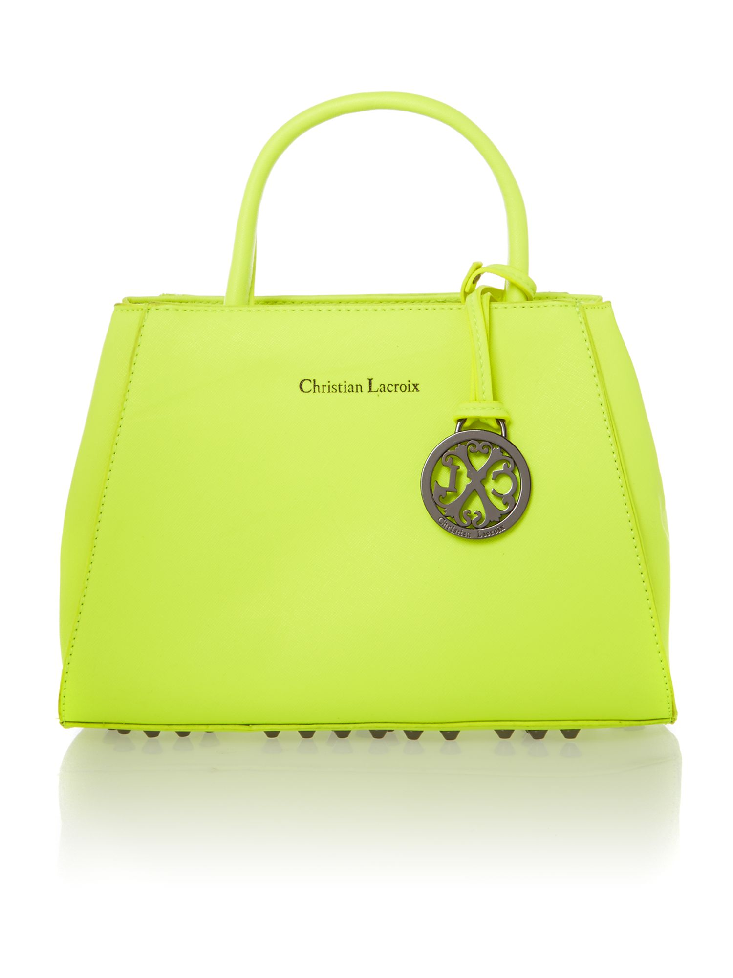 Eternity yellow cross body tote bag