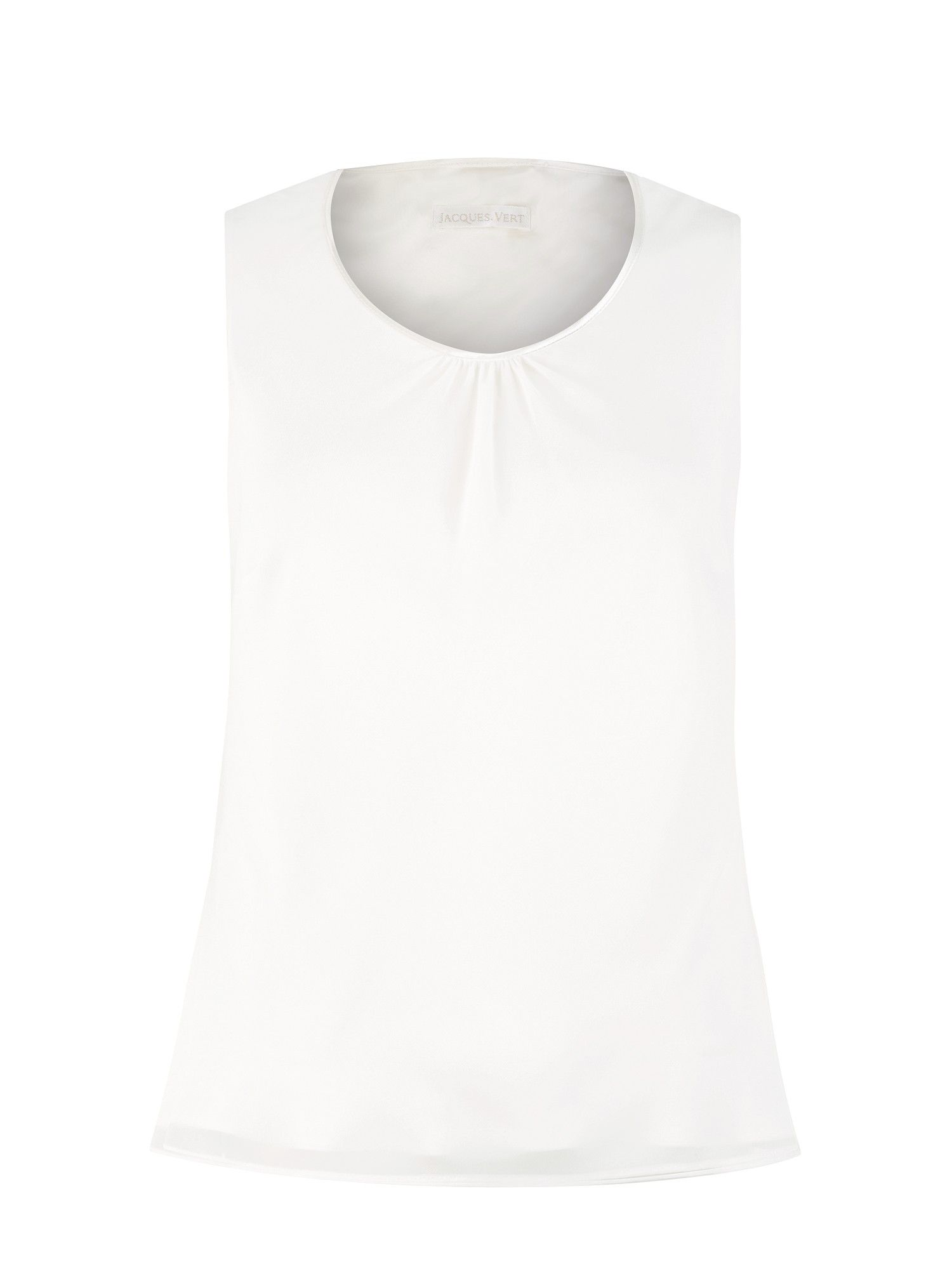 Cream satin trim vest