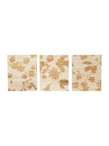 Winter bloom set of 3 wall art