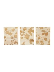 Winter bloom leaf wall art