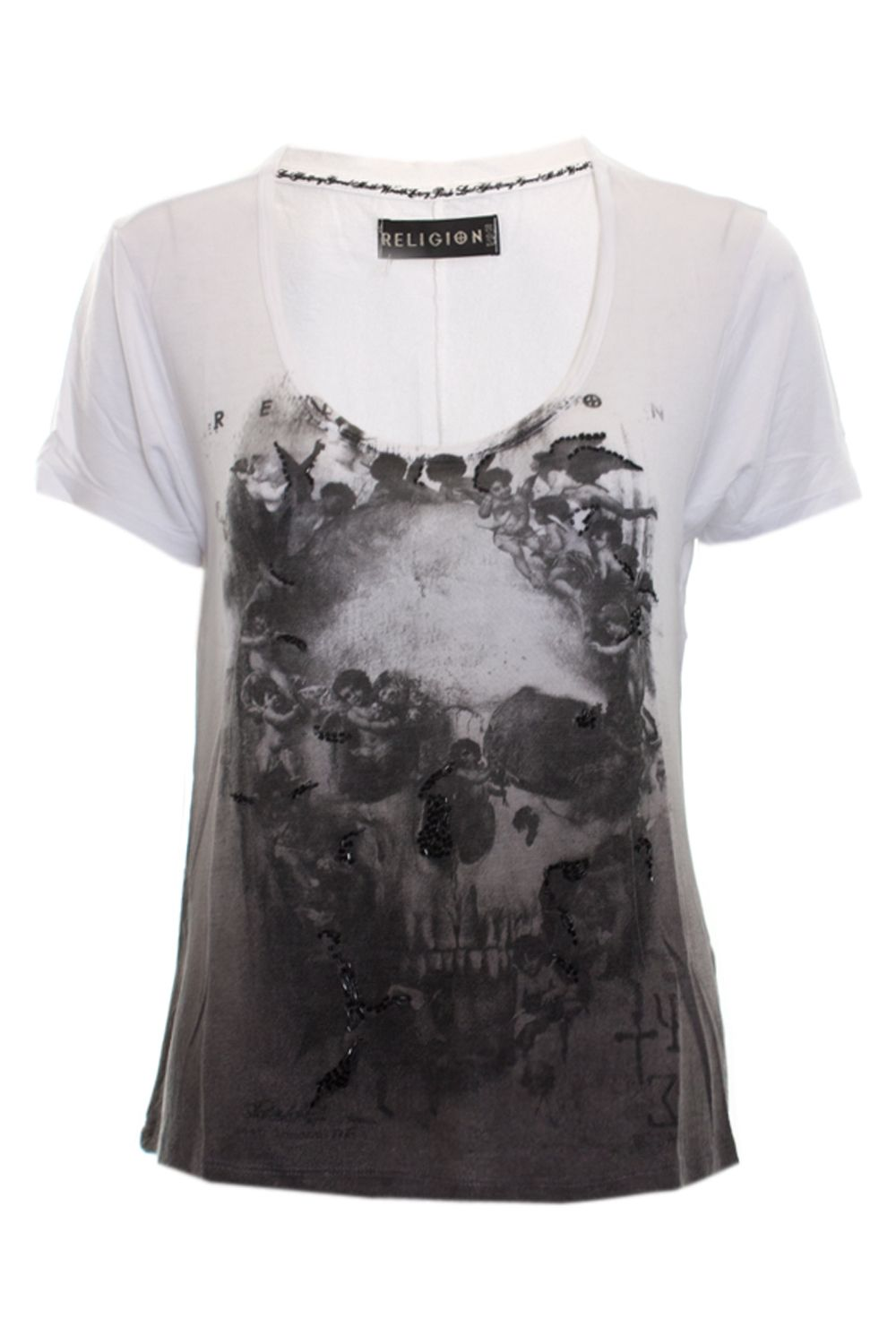 Cherub skull and cross t-shirt