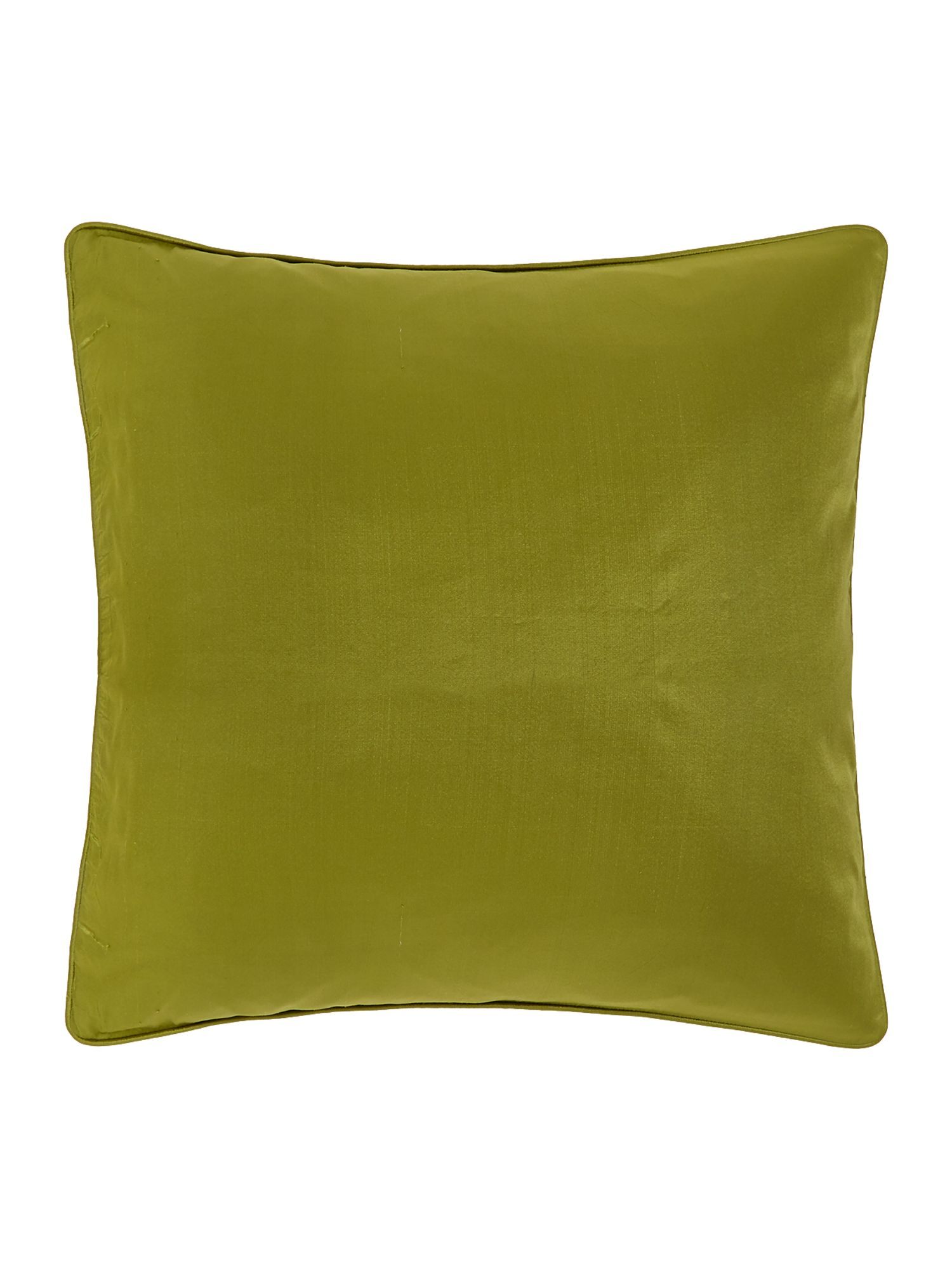 Oversized silk cushion, Green