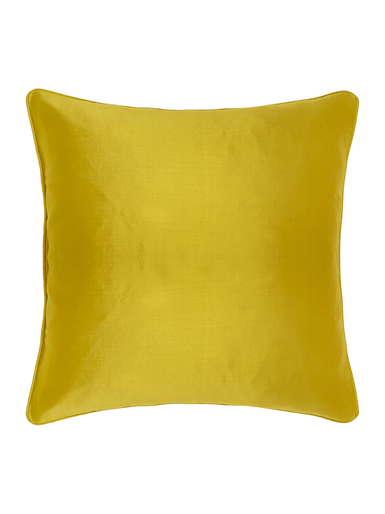 Oversized silk cushion, Lime