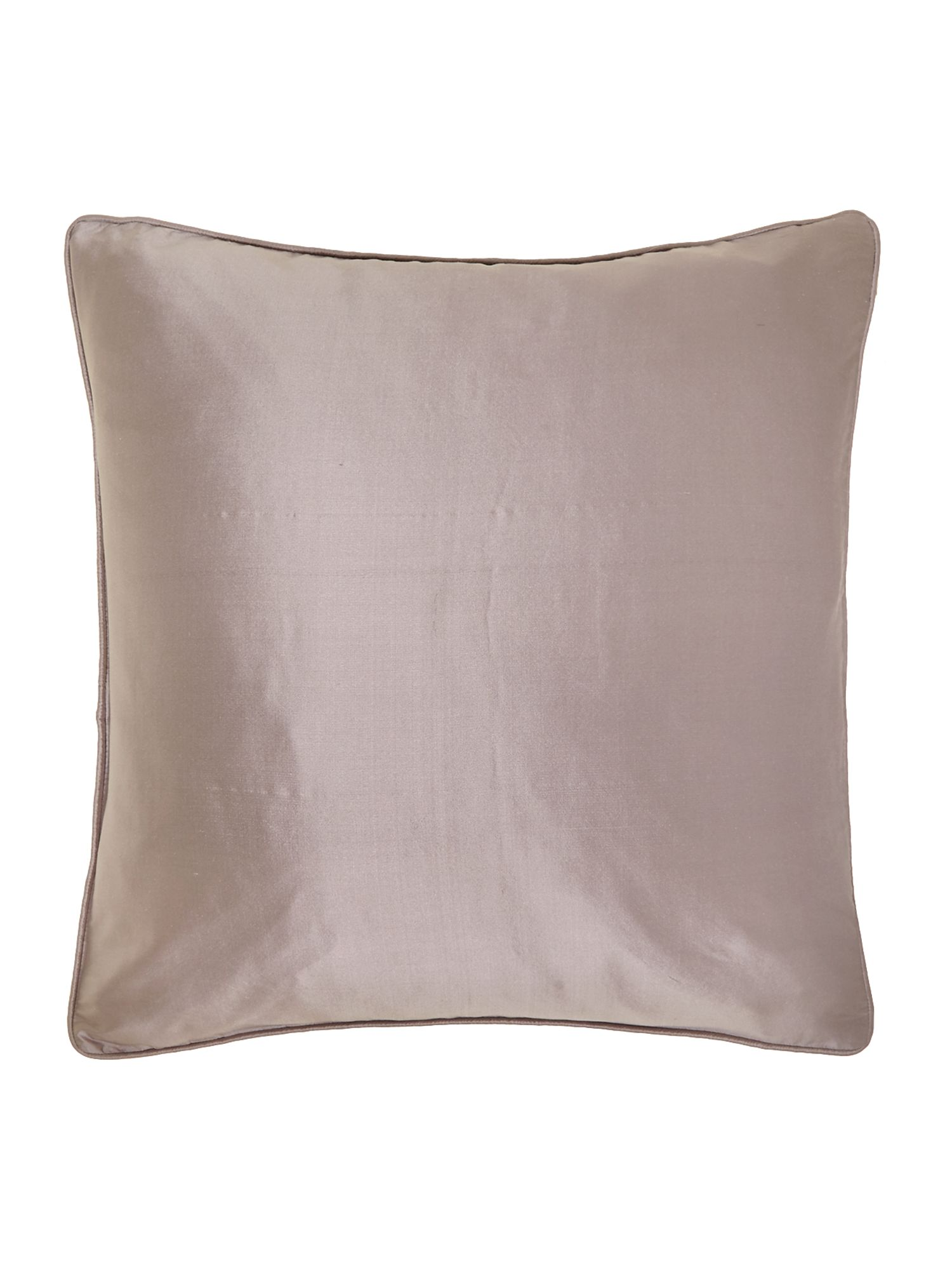 Oversized silk cushion, Silver