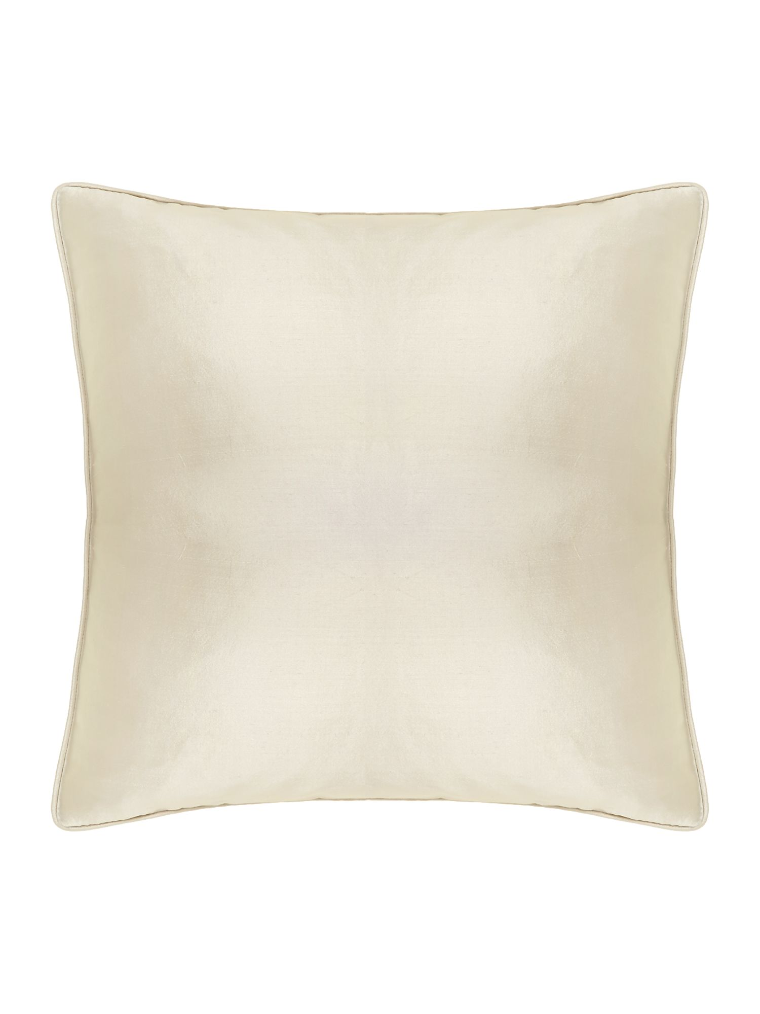 Oversized silk cushion, Champagne