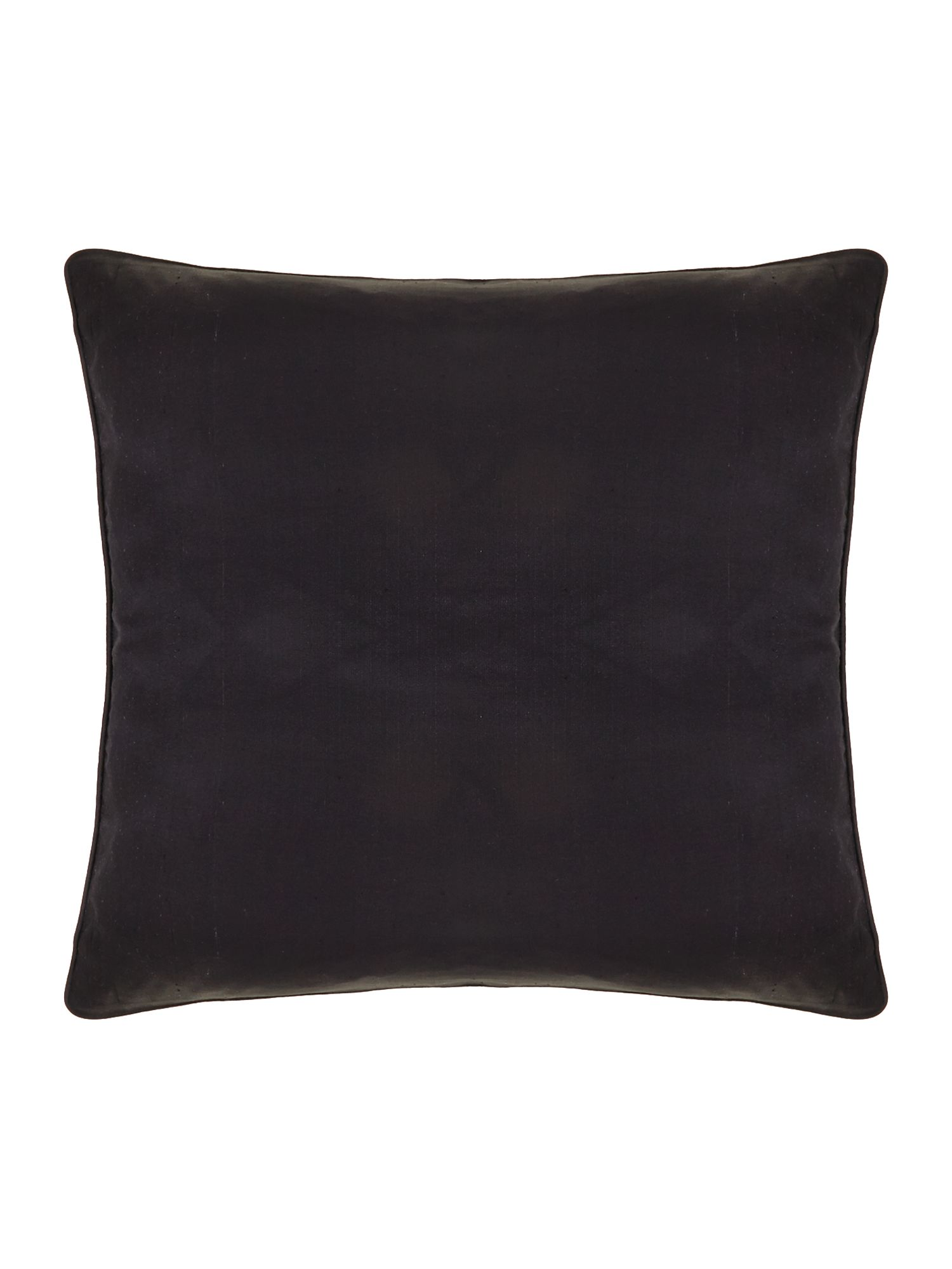 Oversized silk cushion, Black