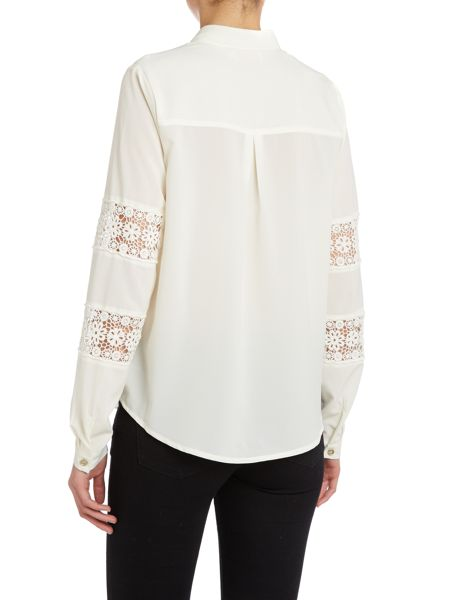 Louche Lace panel sleeve blouse