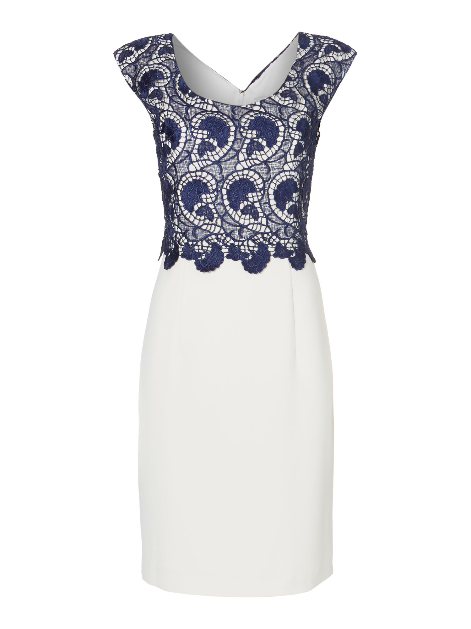 Guipere lace shift dress