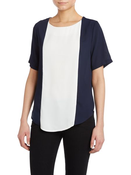 Louche Contrast panel short sleeved top