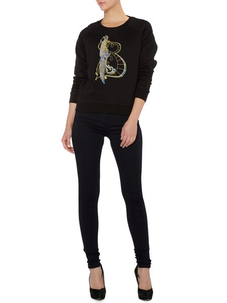 Biba Embroidered Initial Sweater