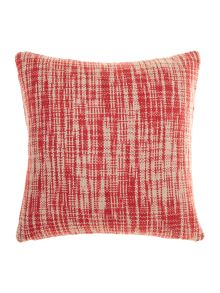 Oversized woven cushion, Red
