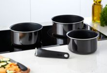 Ingenio enamel saucepan set 4 pieces