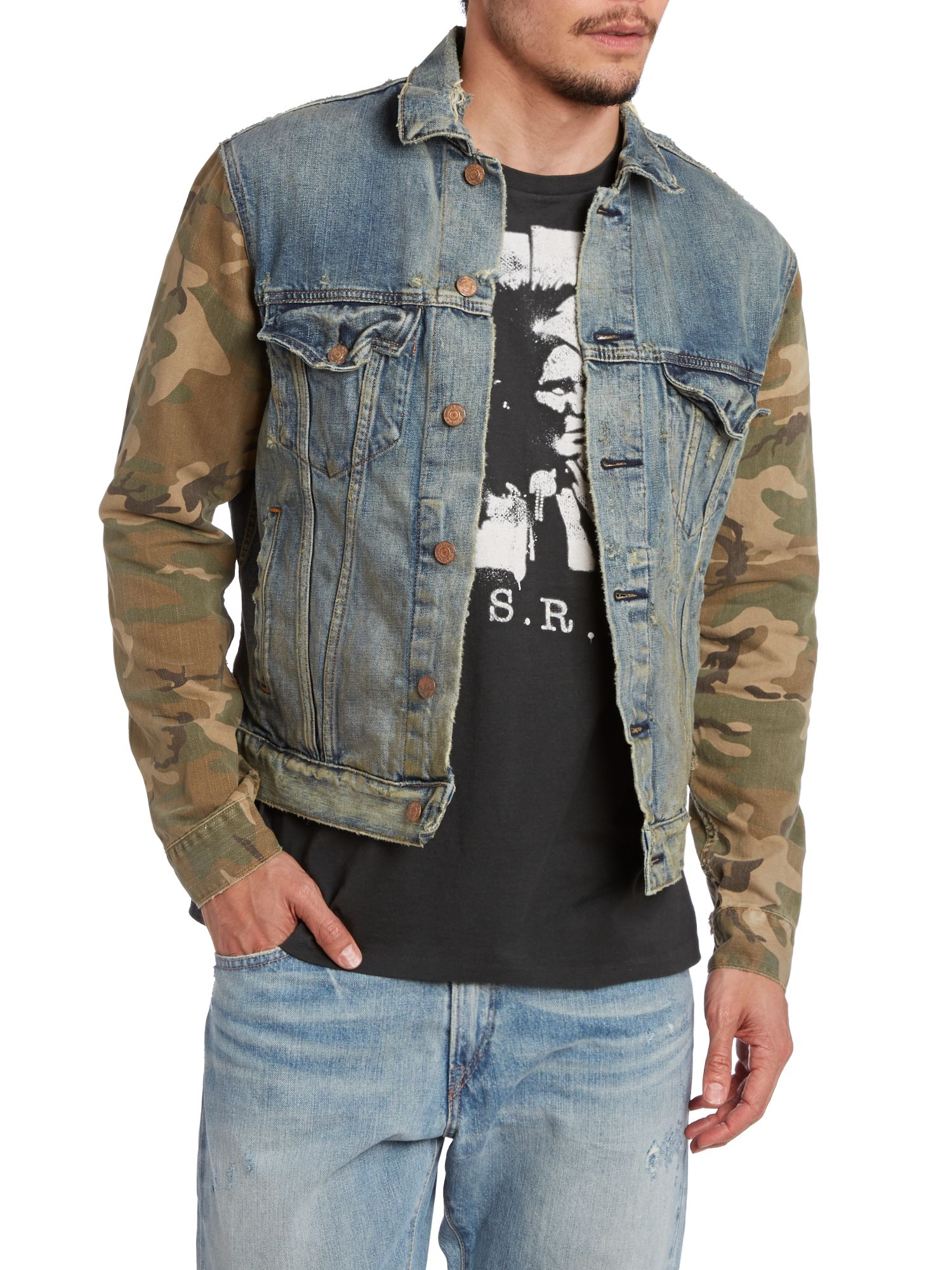 Trucker denim holt jacket