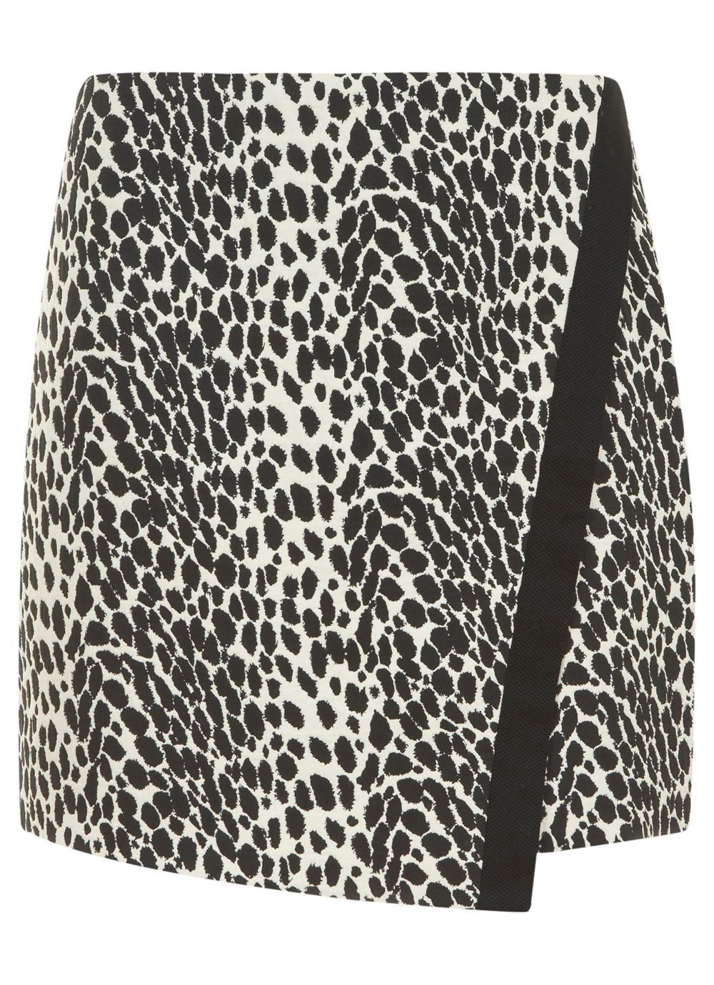 Black & cream leopard print skirt