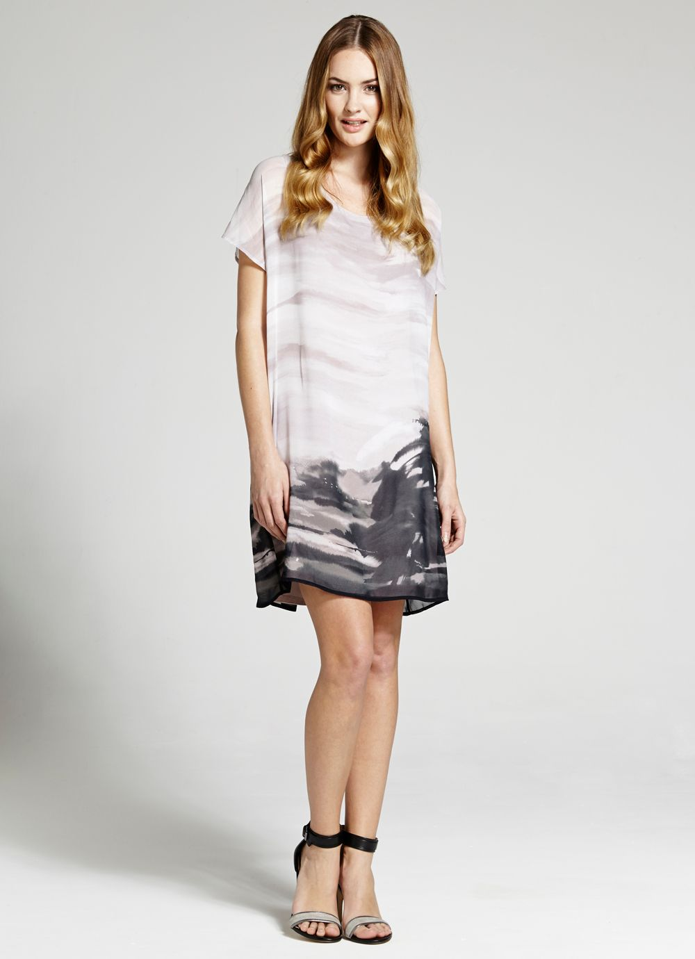 Alba print t shirt dress