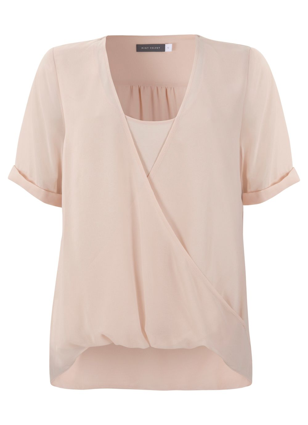 Peach wrap top