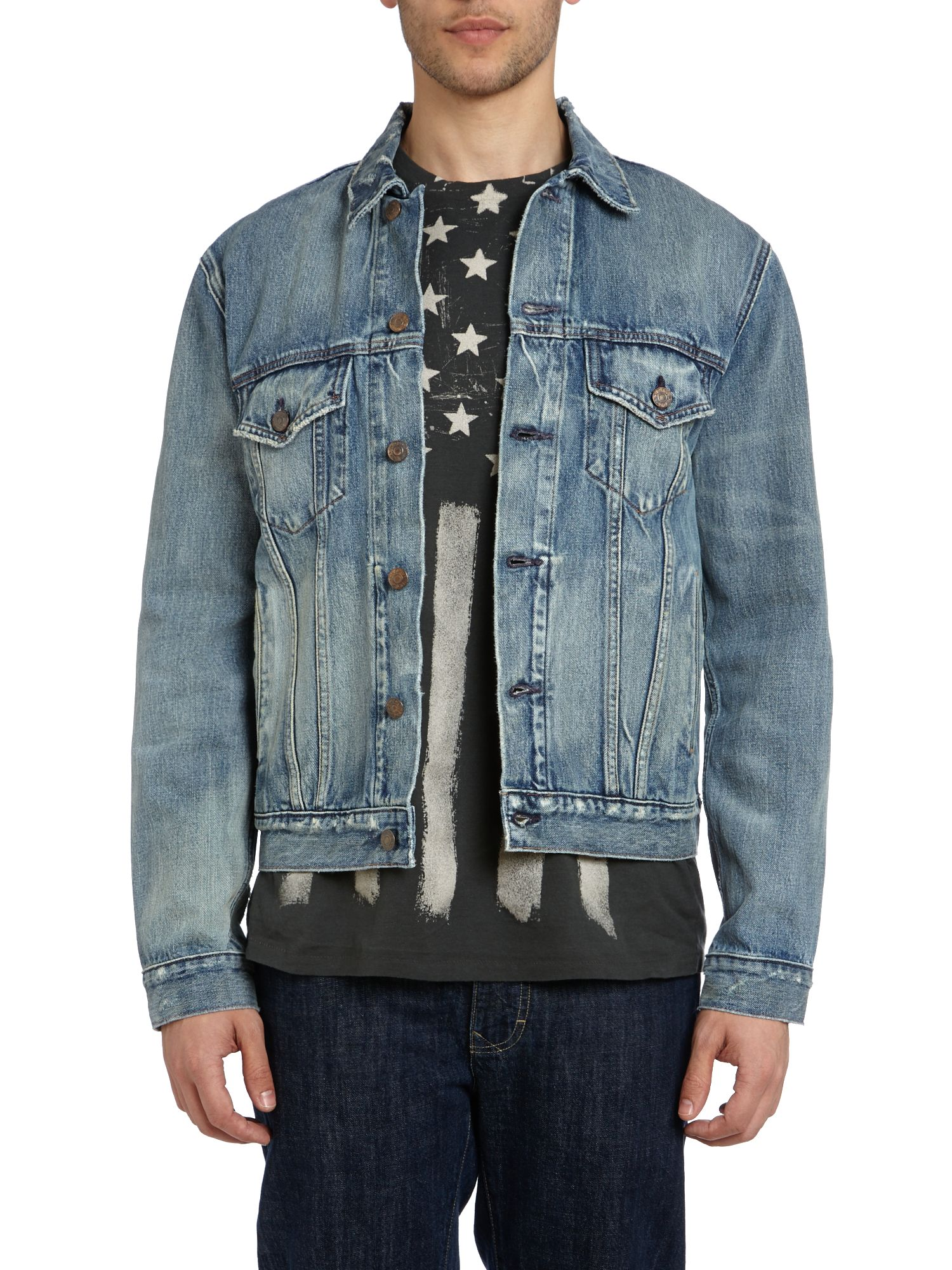 Trucker denim union jacket