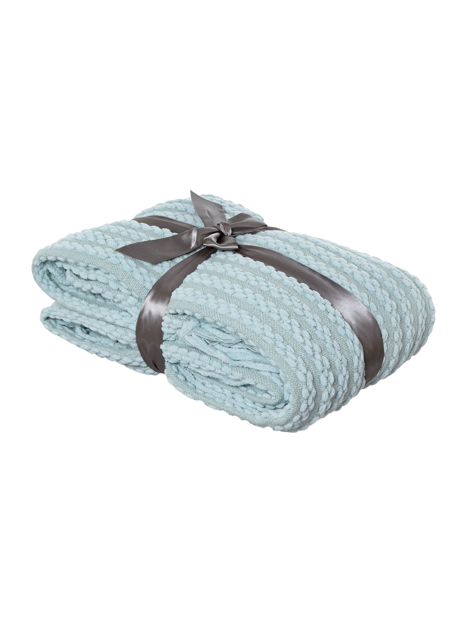 Duck egg paw stitch chenille throw