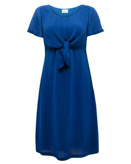 East Tie front georgette dress