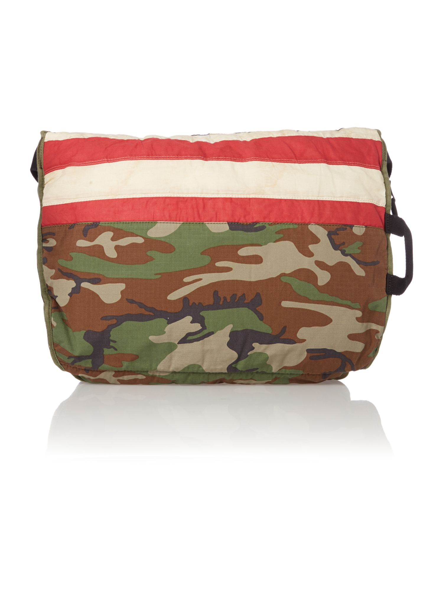 Flag camo messenger bag