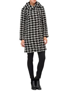 Phase Eight Dalia dogtooth coat