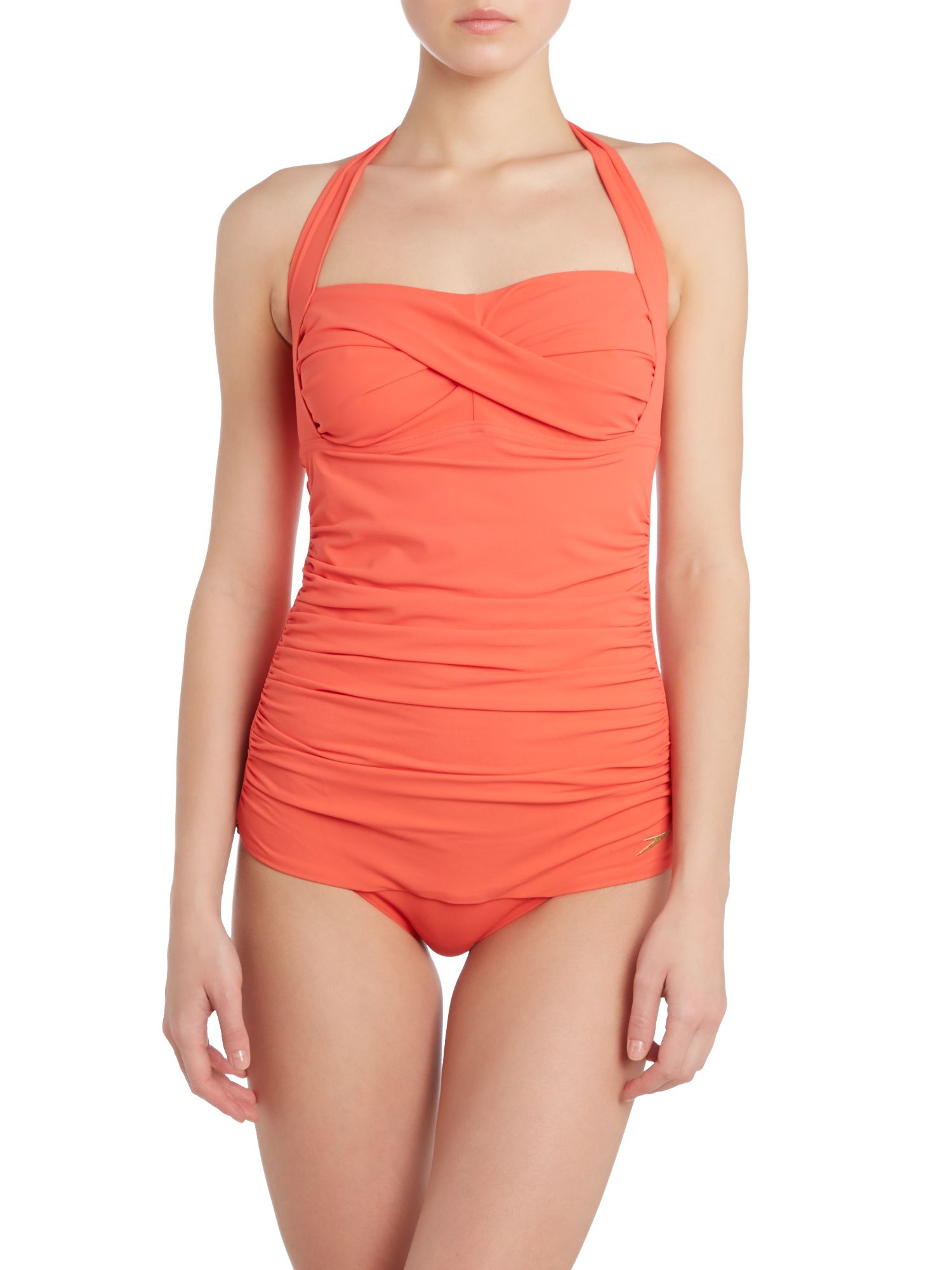 Crystal sun plain swimsuit