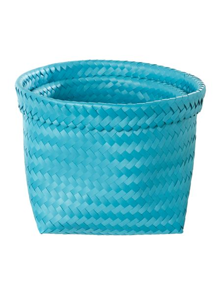 Linea Set of 2 woven baskets blue
