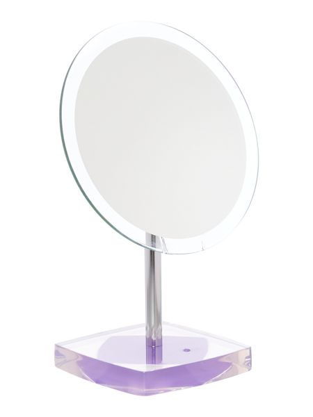 Linea Acrylic base mirror purple