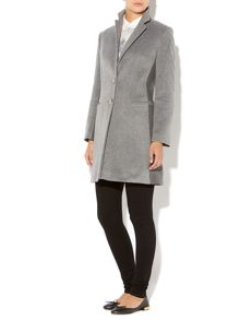 Wool Blocked College Coat