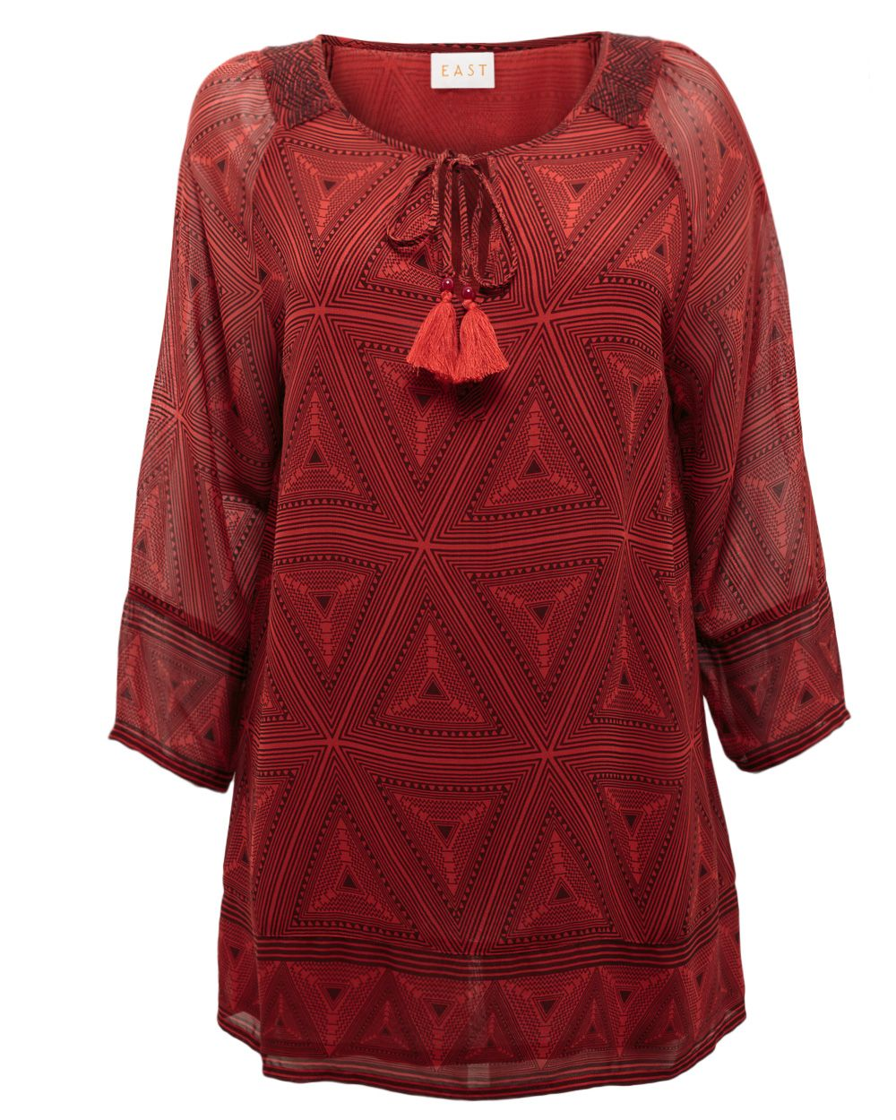 Tribal georgette tunic