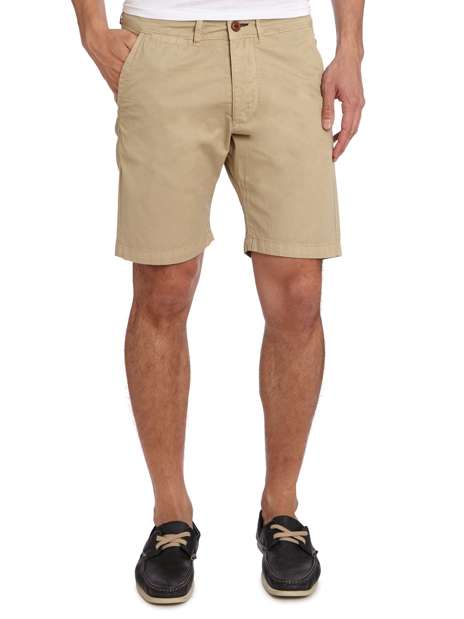 Turn up cuff chino short