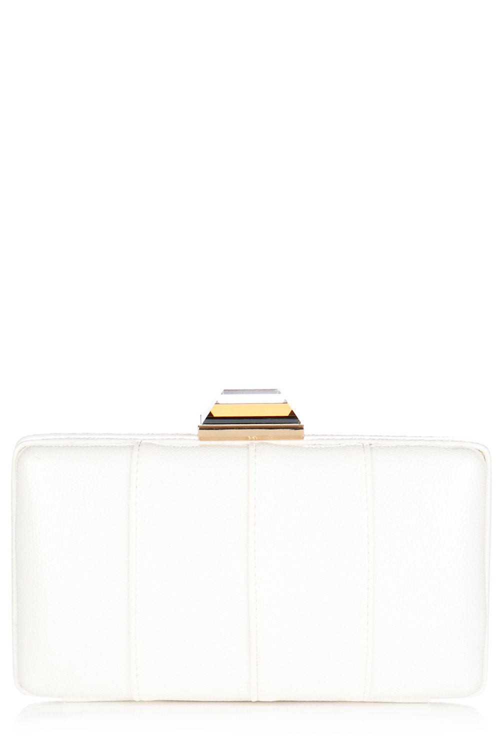 Panelled clutch bag
