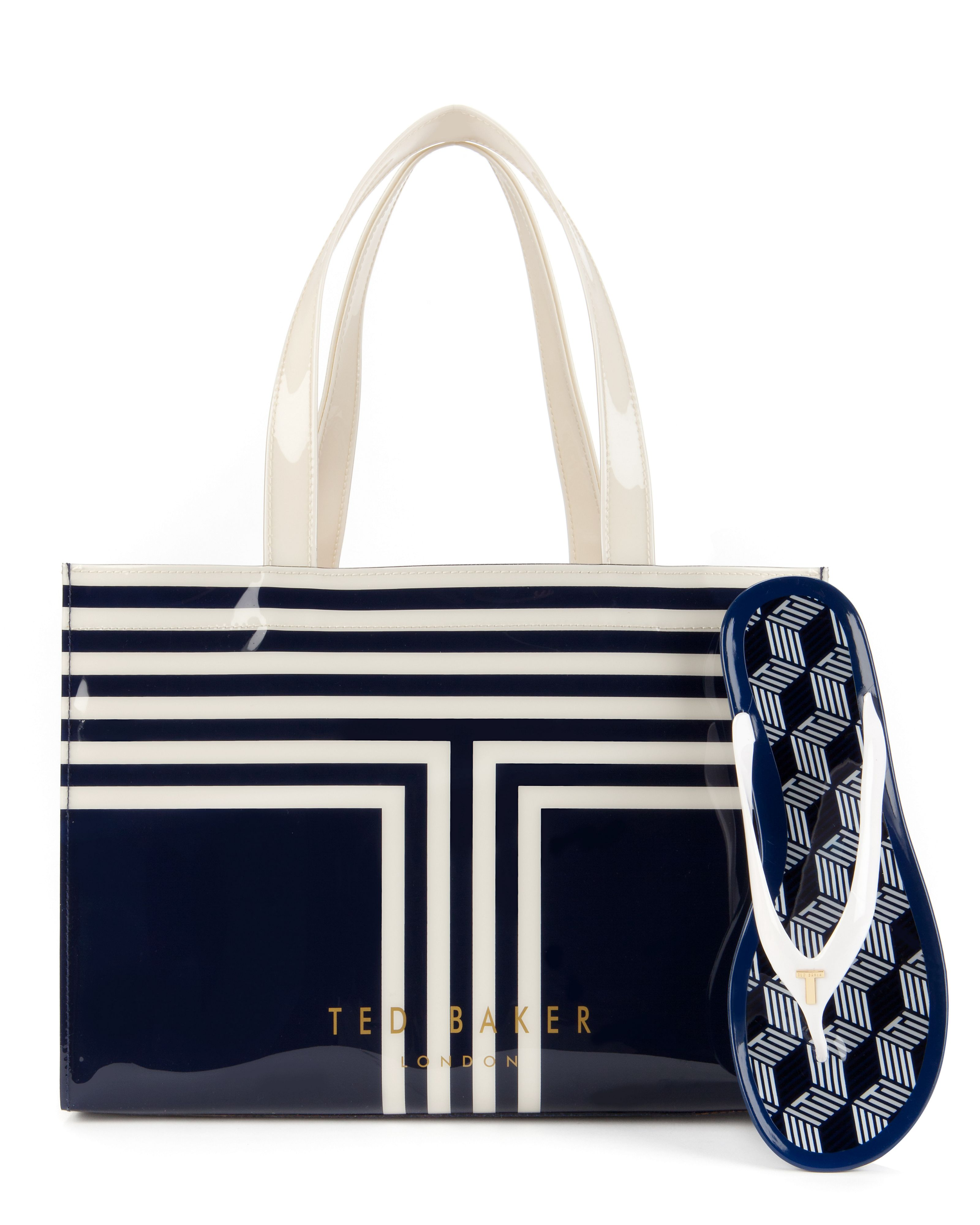 Tebag striped shopper bag
