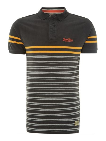 Jack & Jones Multi striped polo shirt