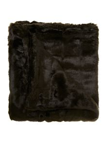 Linea Chocolate brown faux fur throw